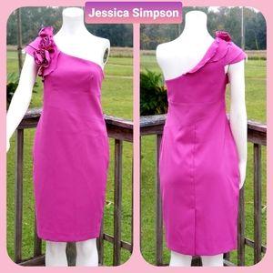 ✔Jessica Simpson One Shoulder mini dress size 4
